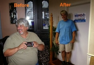 Before and after losing weight NYC