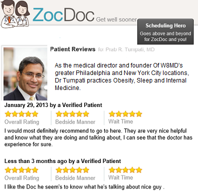 weight loss reviews Dr Prab R Tumpati. MD